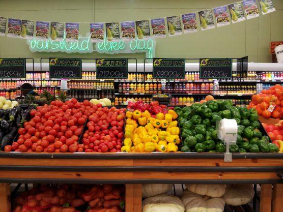 近所のスーパーCheckersの野菜売り場