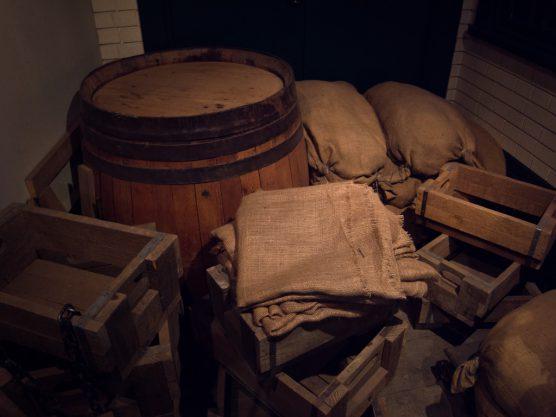 かつてビール醸造に使われていた道具たち