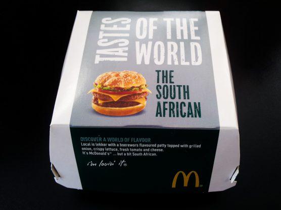 箱入りで登場した南アフリカバーガー