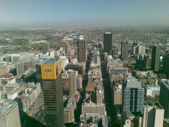 南アフリカ随一の大都市ヨハネスブルグ