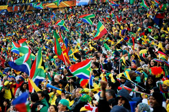 南アフリカ代表Bafana Bafanaのサポーターたち